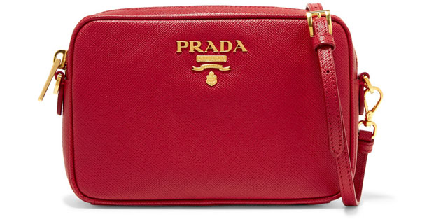 Prada camera bag red