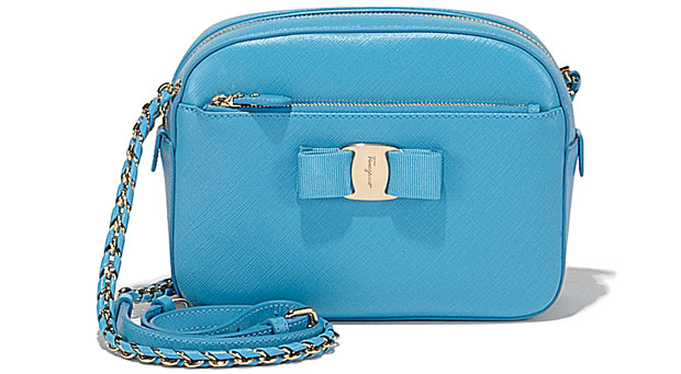 Salvatore Ferragamo Vara camera bag blue