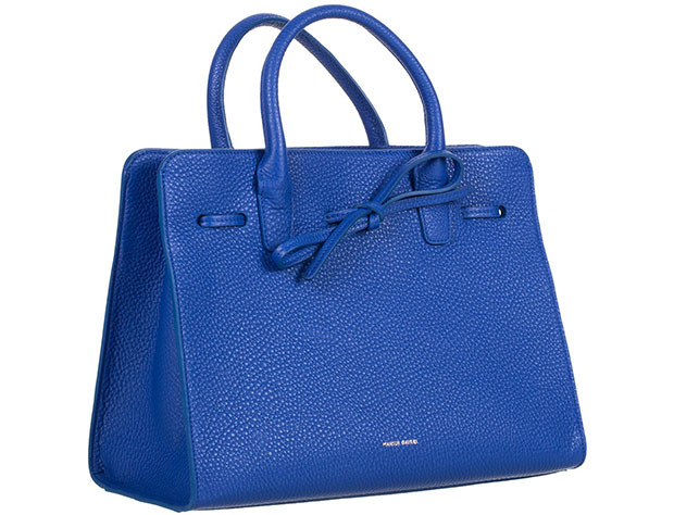 mansur gavriel sun bag grained leather blue
