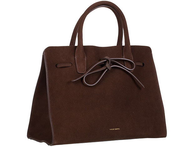mansur gavriel sun bag large suede brown