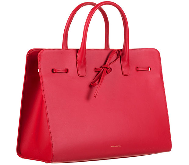 mansur gavriel sun bag large flamma red