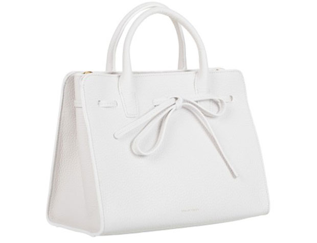 mansur gavriel sun bag grained leather white