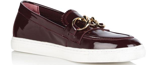 Tommy Hilfiger chain slip on loafer