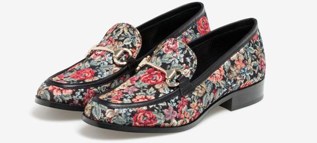 Uterqüe jacquard loafers