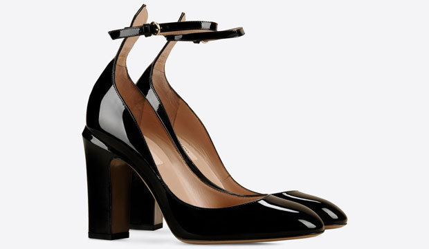 Valentino Tango patent pumps blacks