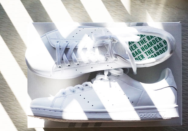 Adidas Stan Smith sneakers all white the bag hoarder
