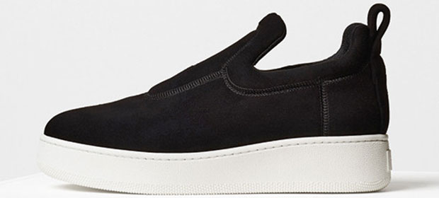 Céline pull on sneakers black suede