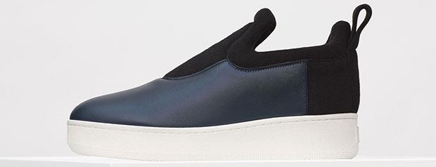 Céline pull on sneakers black suede nappa