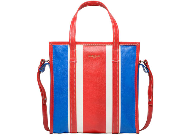 Balenciaga Bazar shopper small red blue