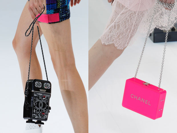 Chanel ss 2017 perspex clutch robot