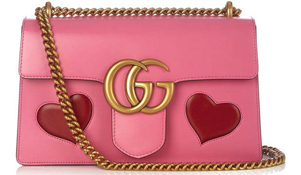 Gucci Marmot bag pink hearts