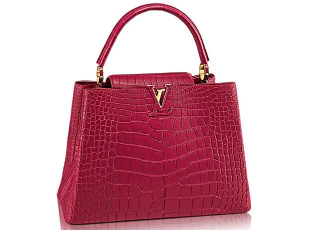 Louis Vuitton capucines MM crocodile
