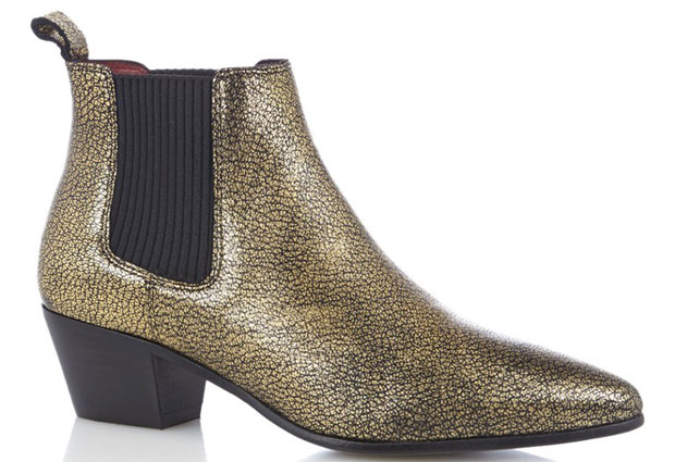 Maje chelsea boots gold