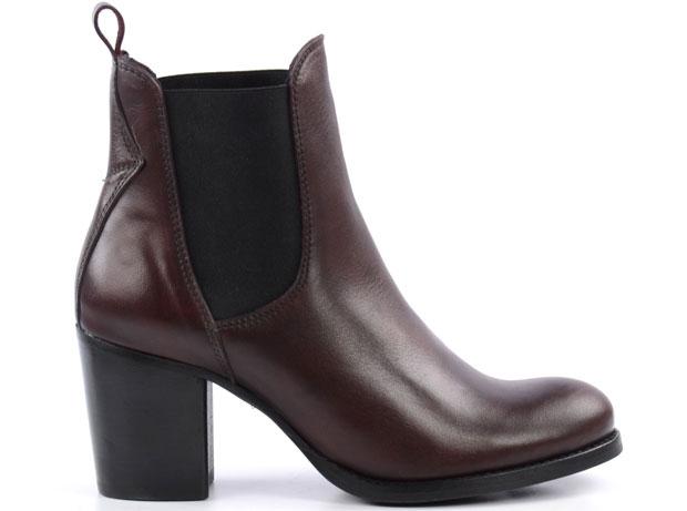 Sacha Chelsea boots bordeaux blokhak