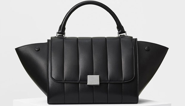 Céline sprint 2017 Small quilted trapeze black