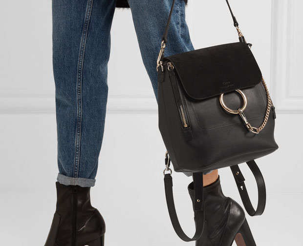 Chloé Faye backpack black