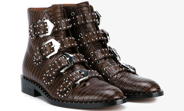 Givenchy Elegant studded boots brown lizard