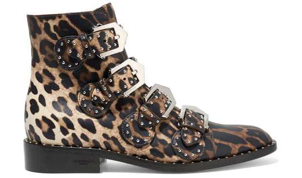 Givenchy Elegant studded boots leopard