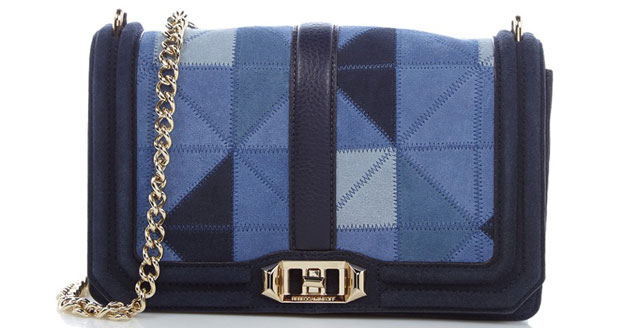 Rebecca Minkoff love crossbody suede denim