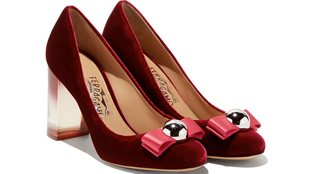 salvatore-ferragamo-velvet-ornament-pumps-red