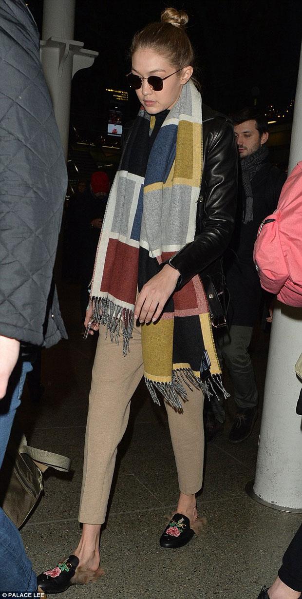 Gigi Hadid Gucci Princetown loafers