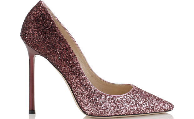 Jimmy Choo Romy 110 glitter pink pumps