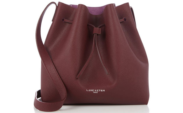 Lancaster bucket bags pur saffiano paars