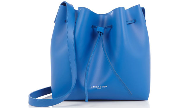 Lancaster bucket bags pure smooth blauw