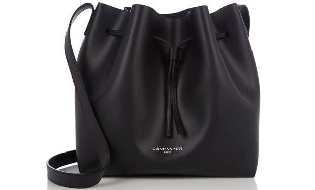 Lancaster bucket bags pure smooth zwart