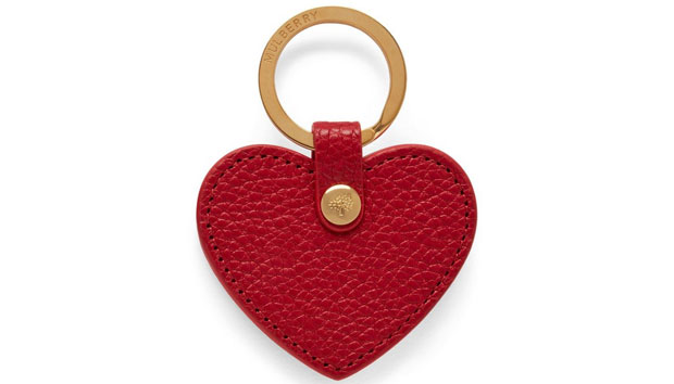 Mulberry Heart Key Ring