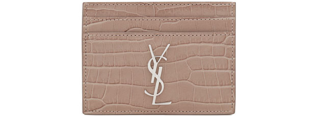 Saint Laurent Monogram cardholder croc