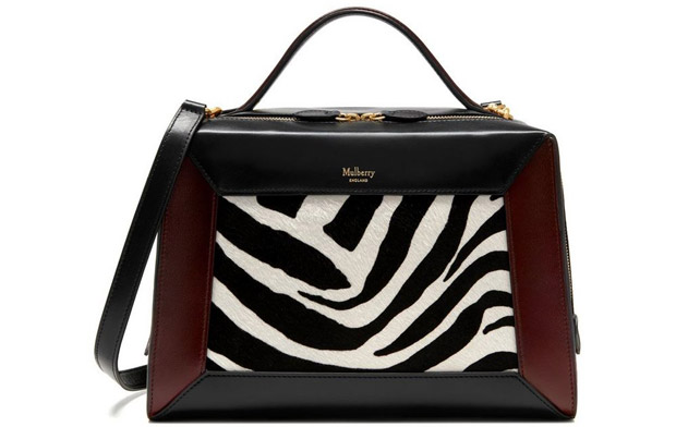 Mulberry Hopton black white oxblood zebra