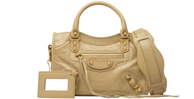 Balenciaga classic gold mini city