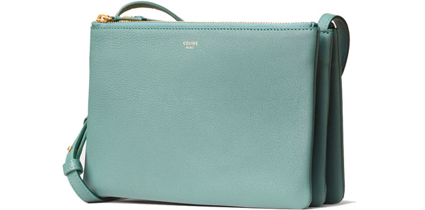 Celine Trio large green smoke