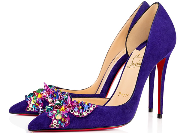 Christian Louboutin Farfaclou purple suede