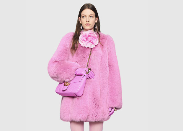 Gucci Marmont bag pink outfit