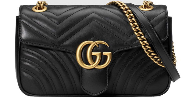 Achterkant van de Marmont bag Gucci Marmont matelasse shoulder bag black  medium Medium Marmont in zwart ... ae89659809