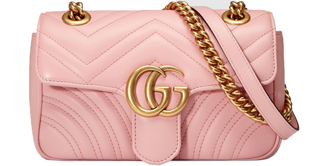Gucci Marmont matelasse shoulder bag light pink small