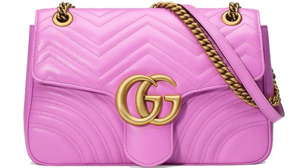 Gucci Marmont matelasse schoulder bag pink large