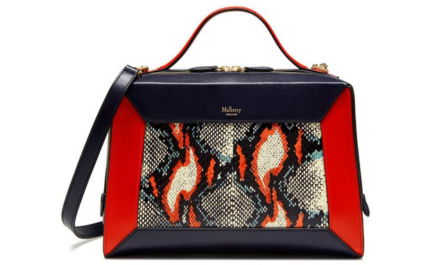 Mulberry the Hopton Fiery red midnight snakeskin
