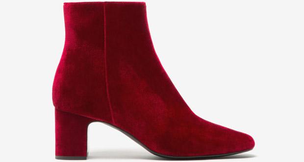 Uterqüe velvet boots red