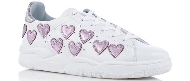 Chiara Ferragni sneakers hearts