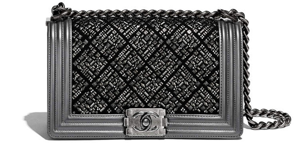 Chanel spring summer 2017 boy bag medium grey