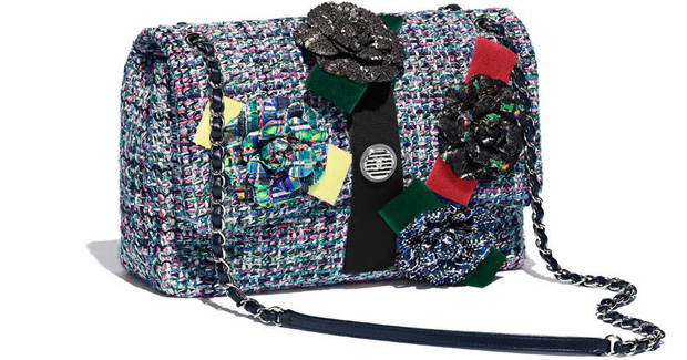 Chanel spring summer 2017 flap bag tweed