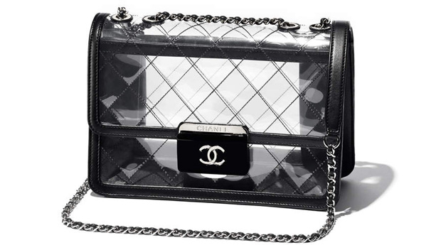 Chanel spring summer 2017 flap bag clear pvc