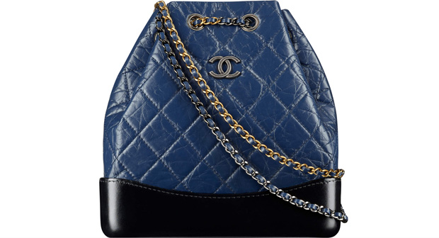 Chanel spring summer 2017 Gabrielle bucket bag blue