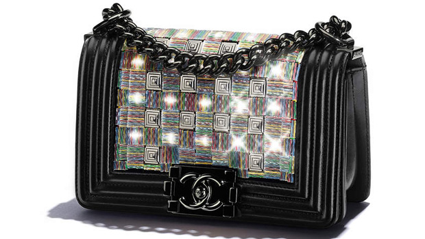 Chanel spring summer 2017 boy bag small black led