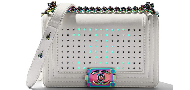 Chanel spring summer 2017 boy bag small white led