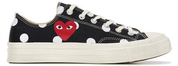Comme des Garçons Play Converse sneakers low top black polkadot