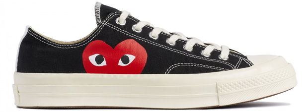 comme des garcons play sneakers converse low top black The